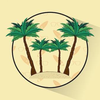 Tema di lifestyle surf tropicale