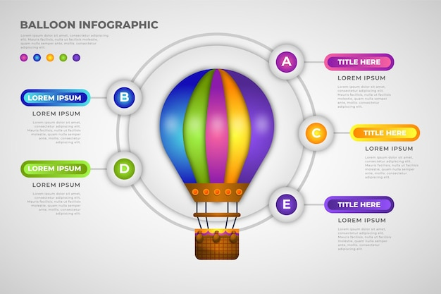 Tema di palloncini infografica