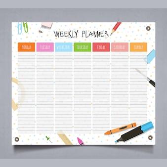 Tema di pianificazione settimanale