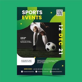 Tema di poster di eventi sportivi