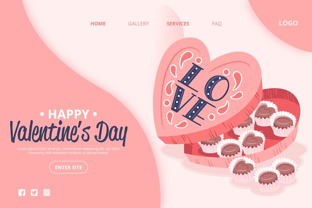 Tema di san valentino sui social media