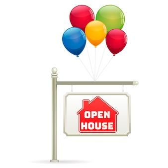 Tema di segno immobiliare casa aperta