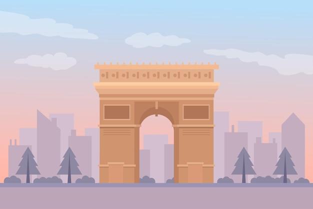 Tema di sfondo dei punti di riferimento della città