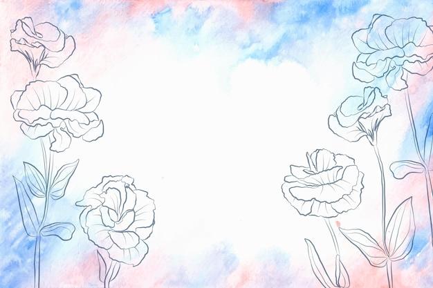 Tema di sfondo di elementi pastello in polvere