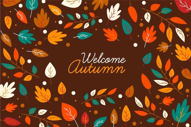 Tema di sfondo di foglie d'autunno
