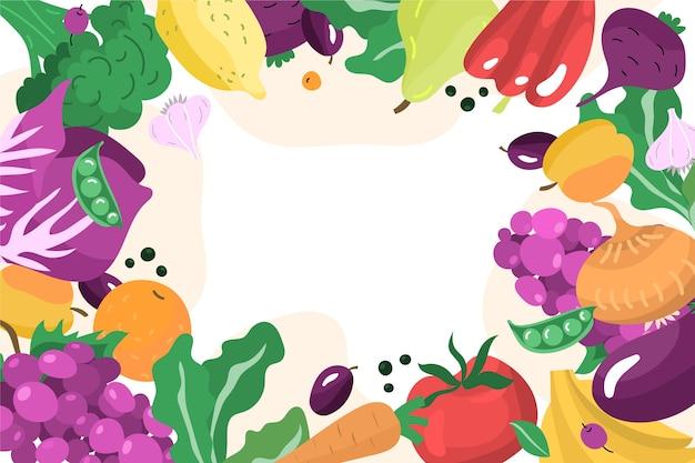 Tema di sfondo di frutta e verdura