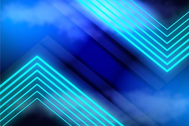Tema di sfondo di luci al neon