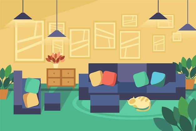 Tema di sfondo interno casa
