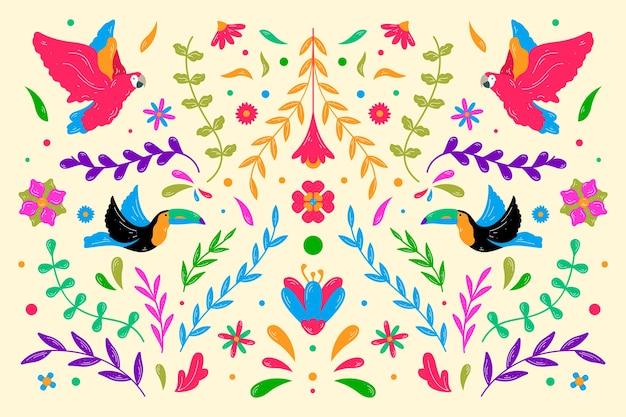 Tema di sfondo messicano colorato
