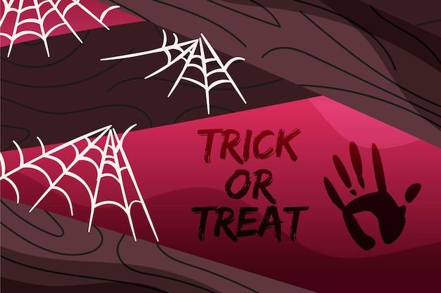 Tema di sfondo ragnatela di halloween