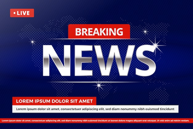 Tema di streaming live di ultime notizie