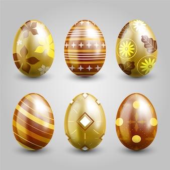 Tema dorato della raccolta dell'uovo di giorno di pasqua