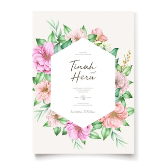 Tema elegante dell'invito di nozze del fiore di ciliegia