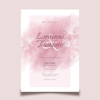 Tema elegante per invito a nozze
