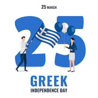 Tema festa dell'indipendenza greca.