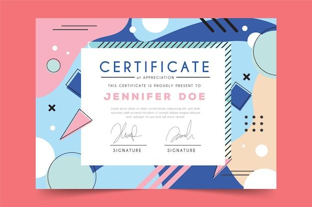 Tema geometrico astratto per modello di certificato