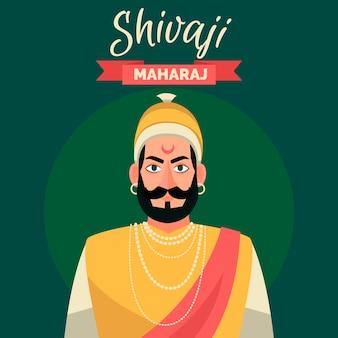 Tema illustrazione shivaji maharaj