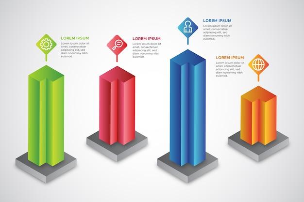 Tema infografica isometrica