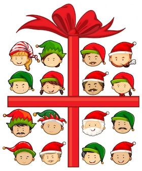 Tema natalizio con Babbo Natale ed elfi