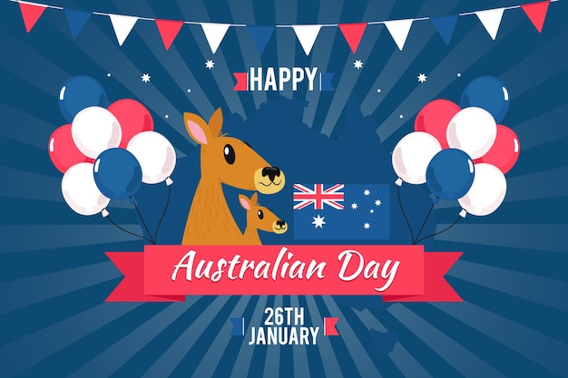 Tema nazionale del giorno dell'australia per l'evento