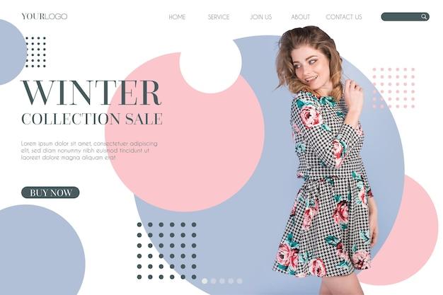 Tema webtemplate di vendita di moda
