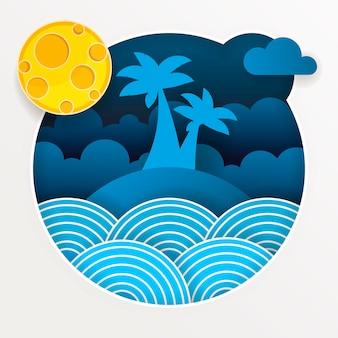 Tempesta tropicale nell'oceano