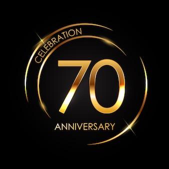 Template 70 years anniversary