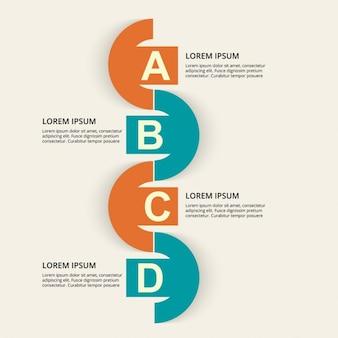 Template infografica colorato
