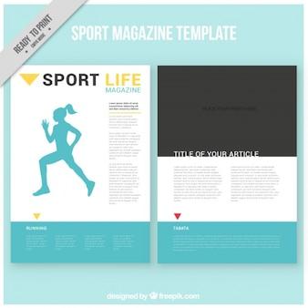 Template magazine sport
