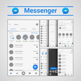 Template messenger ux