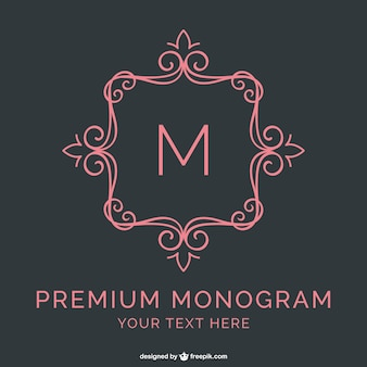 Template monogram premium