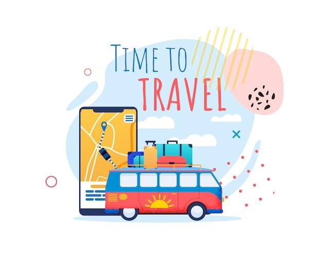 Tempo di viaggiare banner motivazionale