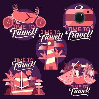 Tempo di viaggiare con set di foto