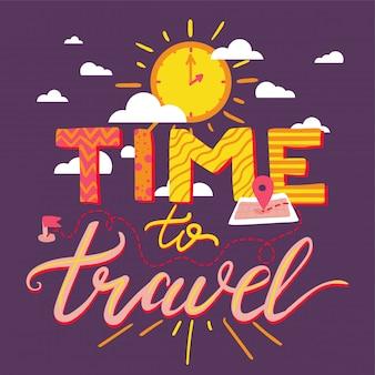 Tempo di viaggiare scritte