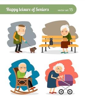 Tempo libero di pensionati anziani