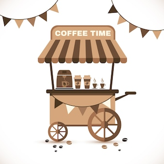 Tenda di caffè e interno del caffè