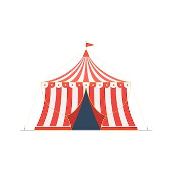Tenda di circo isolata su bianco