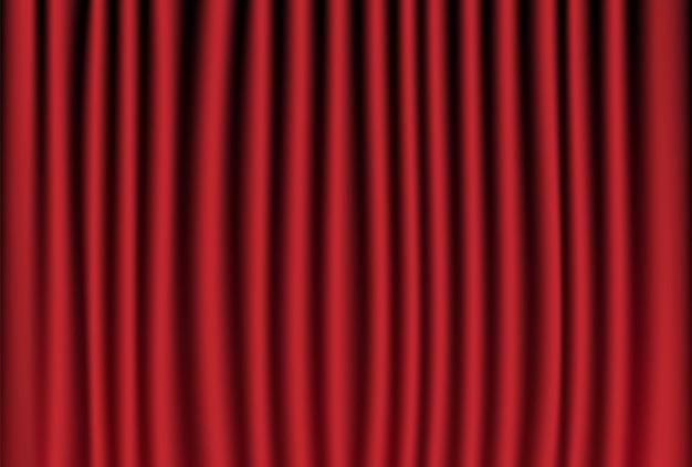 Tenda rossa per il palco