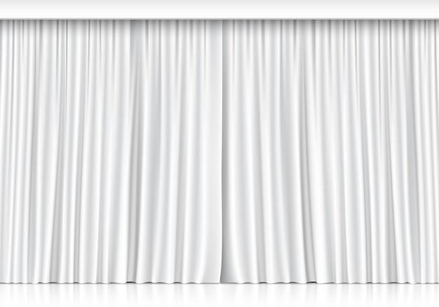 Tende bianche su sfondo bianco