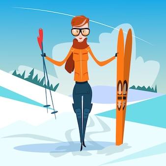 Tenere in piedi sci inverno