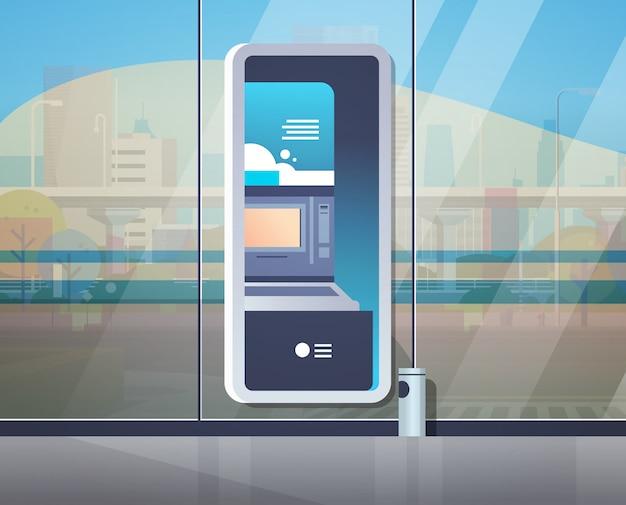 Terminale di pagamento bancomat self service