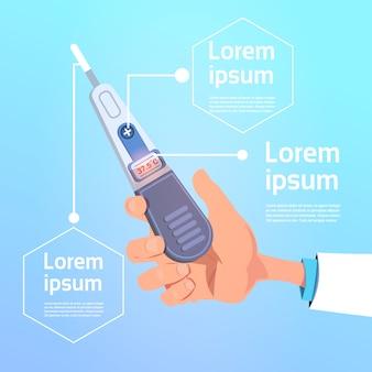 Termometro medico digitale della stretta della mano