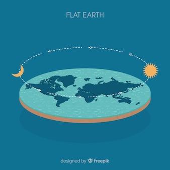 Terra e orbita sullo sfondo