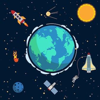 Terra nello spazio