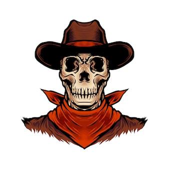 Teschio cowboy