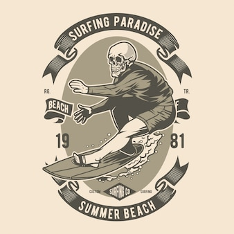 Teschio da surf