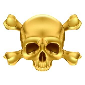 Teschio e ossa incrociate