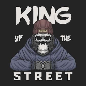 Teschio gorilla re della strada