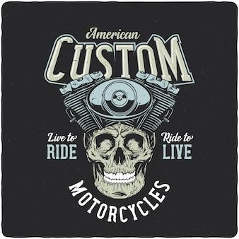 Teschio motociclista