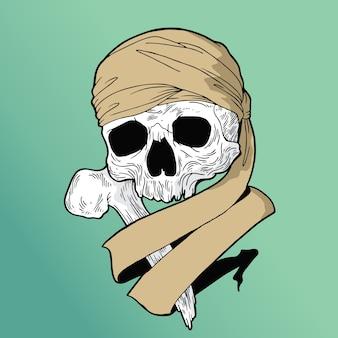 Teschio ragazzo pirata